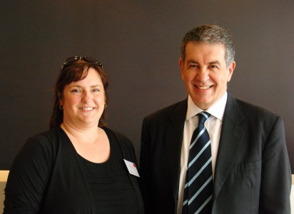 Michelle Sibbons, Director & Naevus Support Australia with John Michailidis, Managing Director – JEM Pharmaceuticals