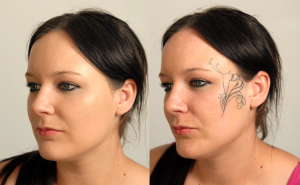 before and after tattoo on face